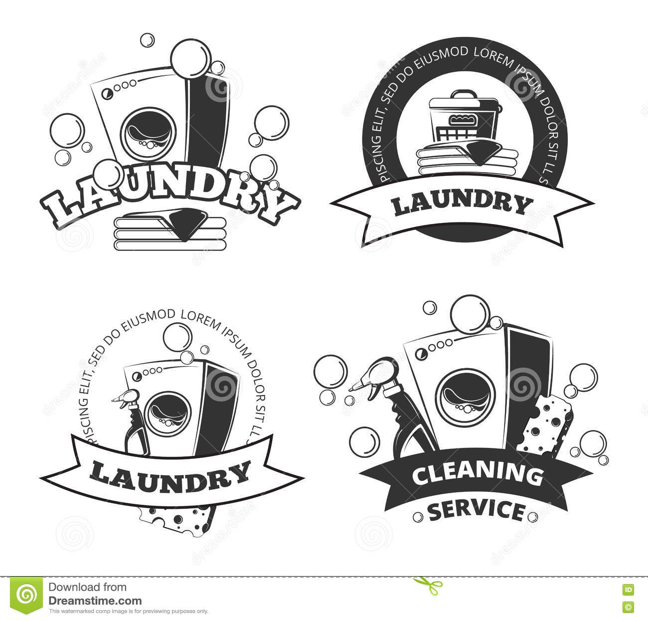 List Of Synonyms And Antonyms Of The Word Laundry Vector