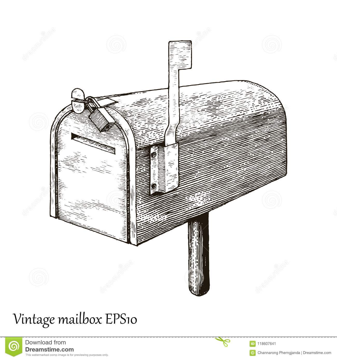 Postal Post Delivery Stamp Graphic Concept Royalty Free