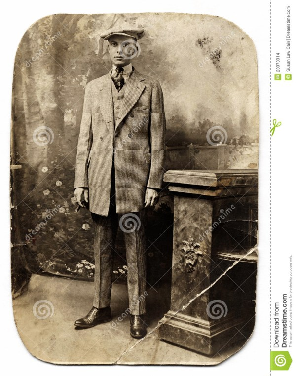 Vintage Man In Checked Suit Stock Photo - Image of checked ...