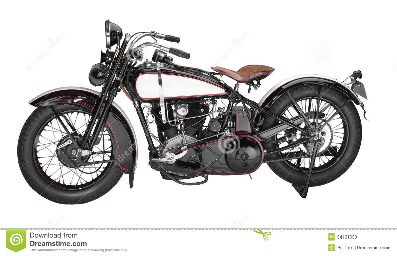 Vintage Motorcycle Stock Photo Image Of Object Dated