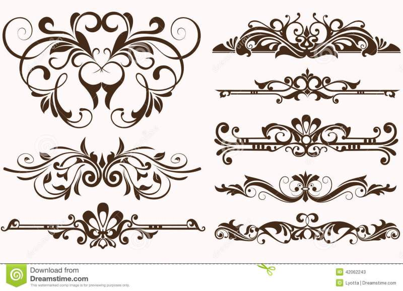 Vintage Ornaments Borders Design