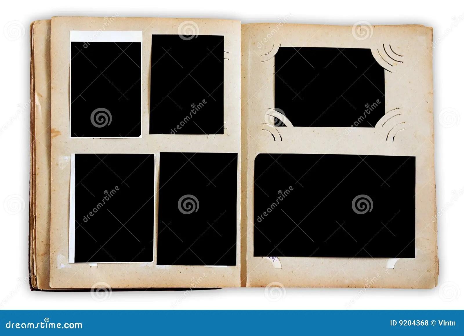 Vintage Photo Album Pages Stock Photo. Image Of Rough