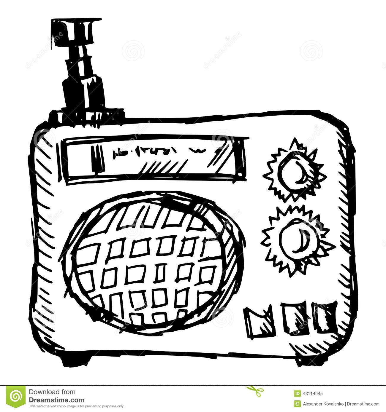 Vintage Radio Stock Vector Illustration Of Nostalgia