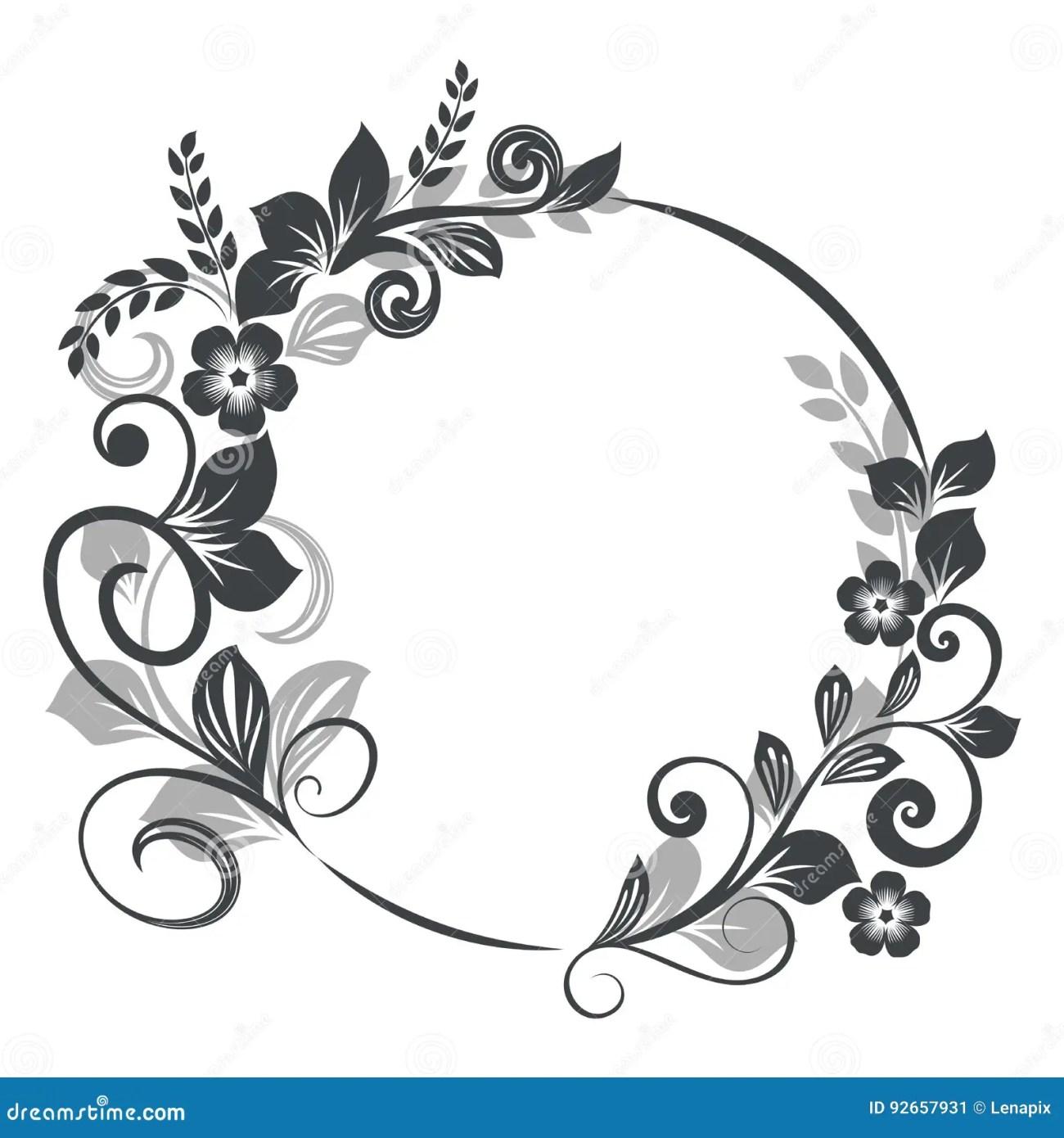 Flower Frame Vector Black Framess