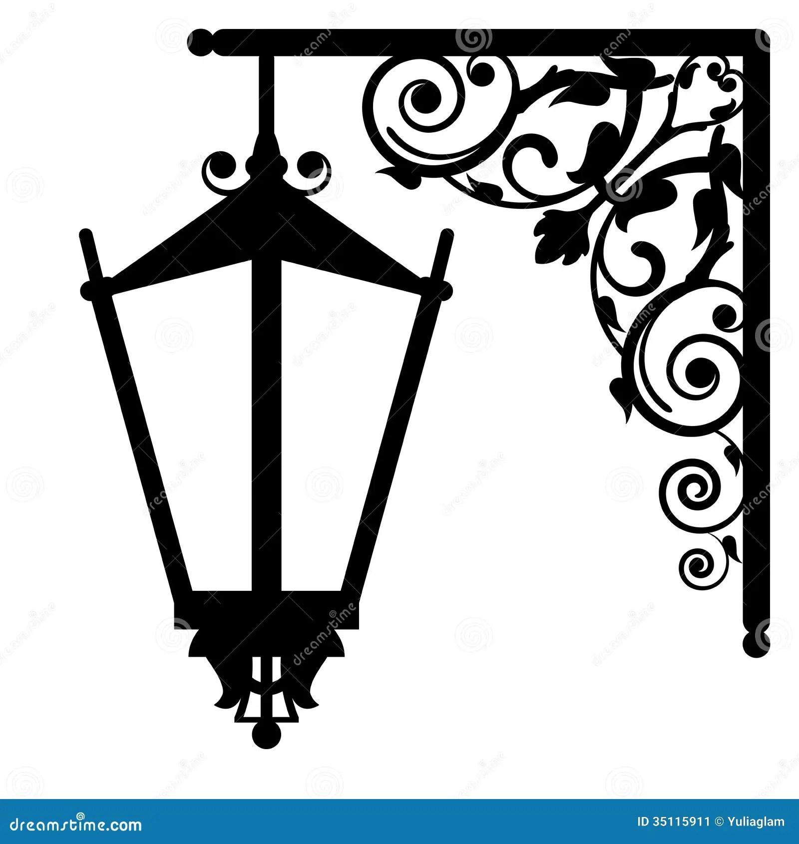 Vintage Streetlight Stock Image