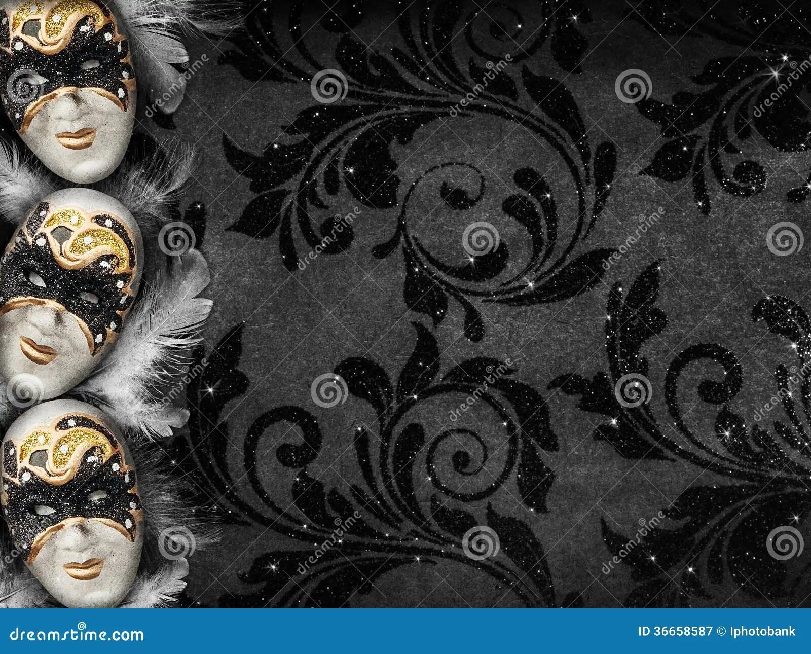 Vintage Style Dark Masquerade Background Royalty Free