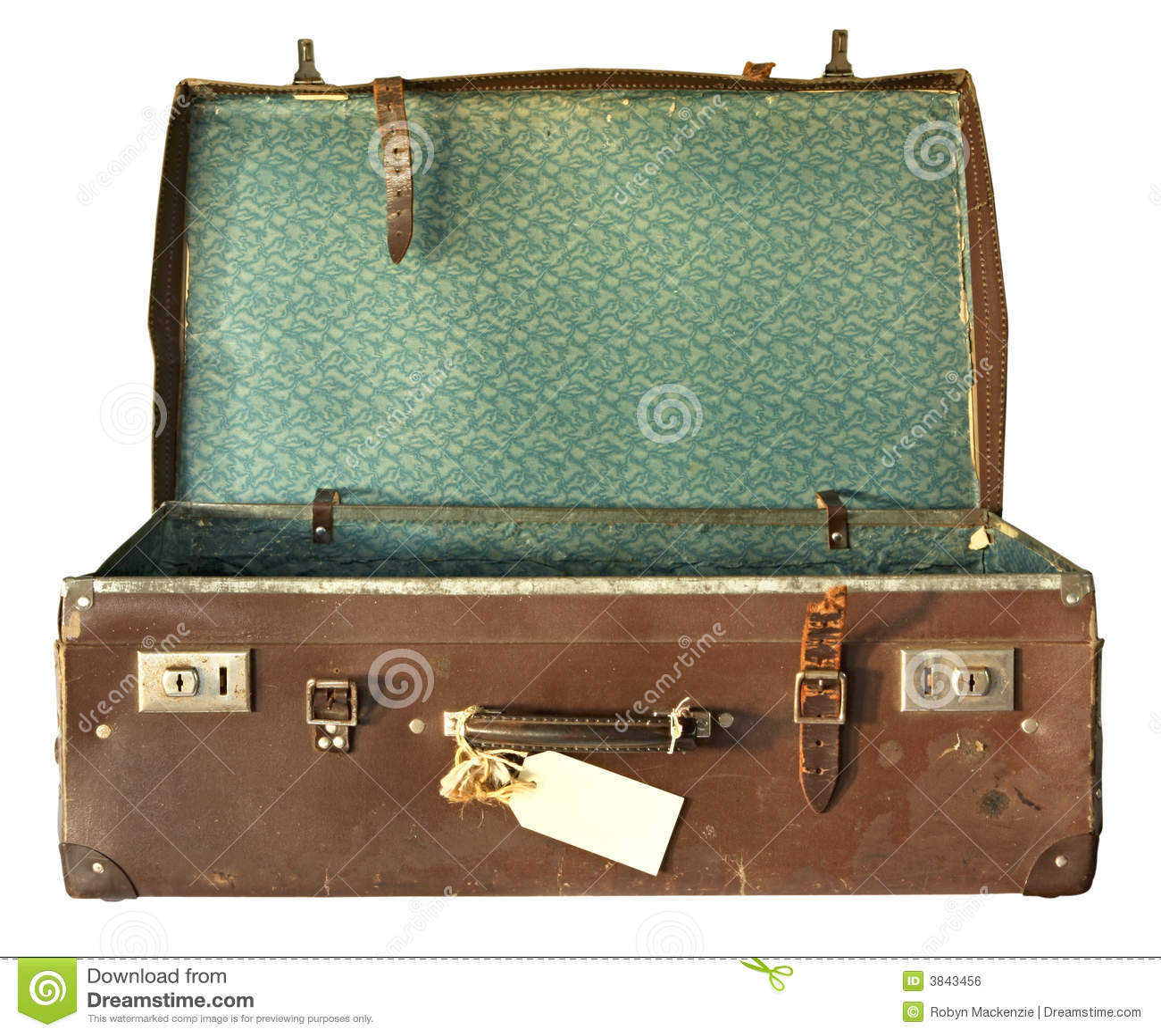 Vintage Suitcase Open Stock Photo Image Of Beaten