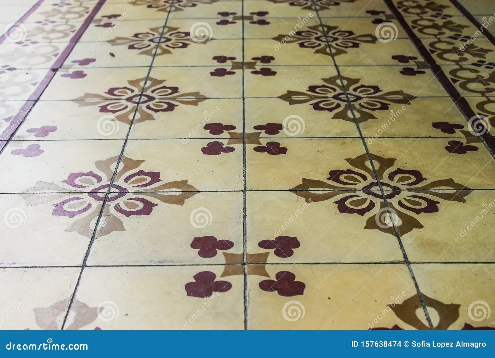 https www dreamstime com vintage tile background oriental flooring mosaic design tiled retro floral image157638474