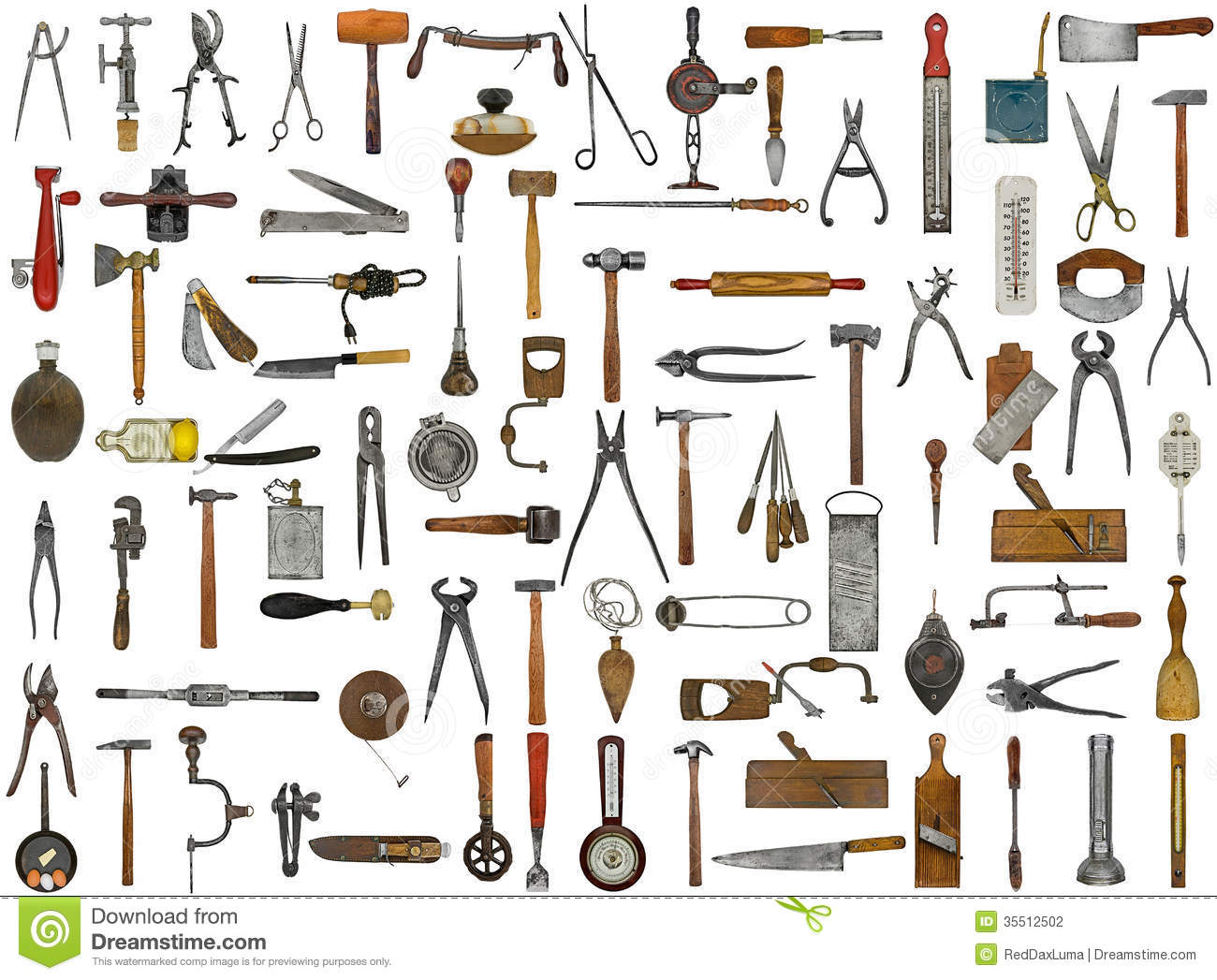 Vintage Tools And Utensils Stock Photography