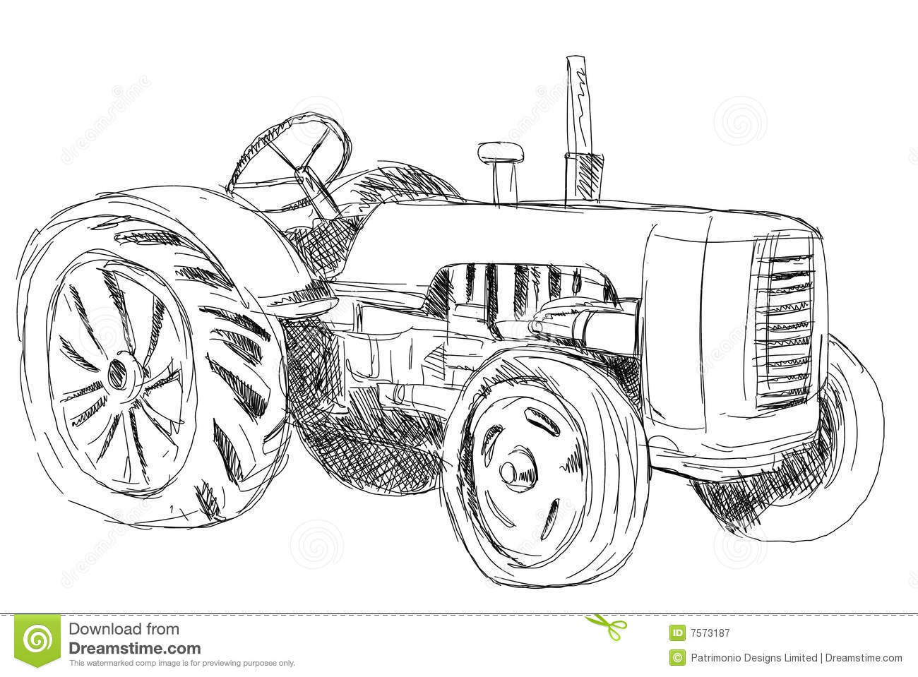 Vintage Tractor Royalty Free Stock Photography