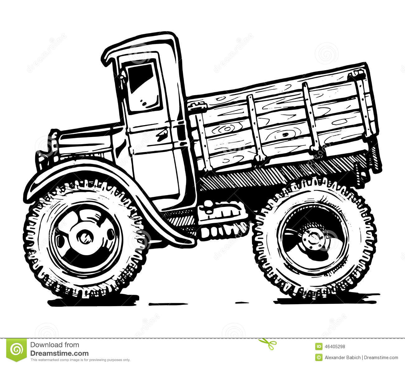 Vintage Truck Stock Vector Illustration Of Colour