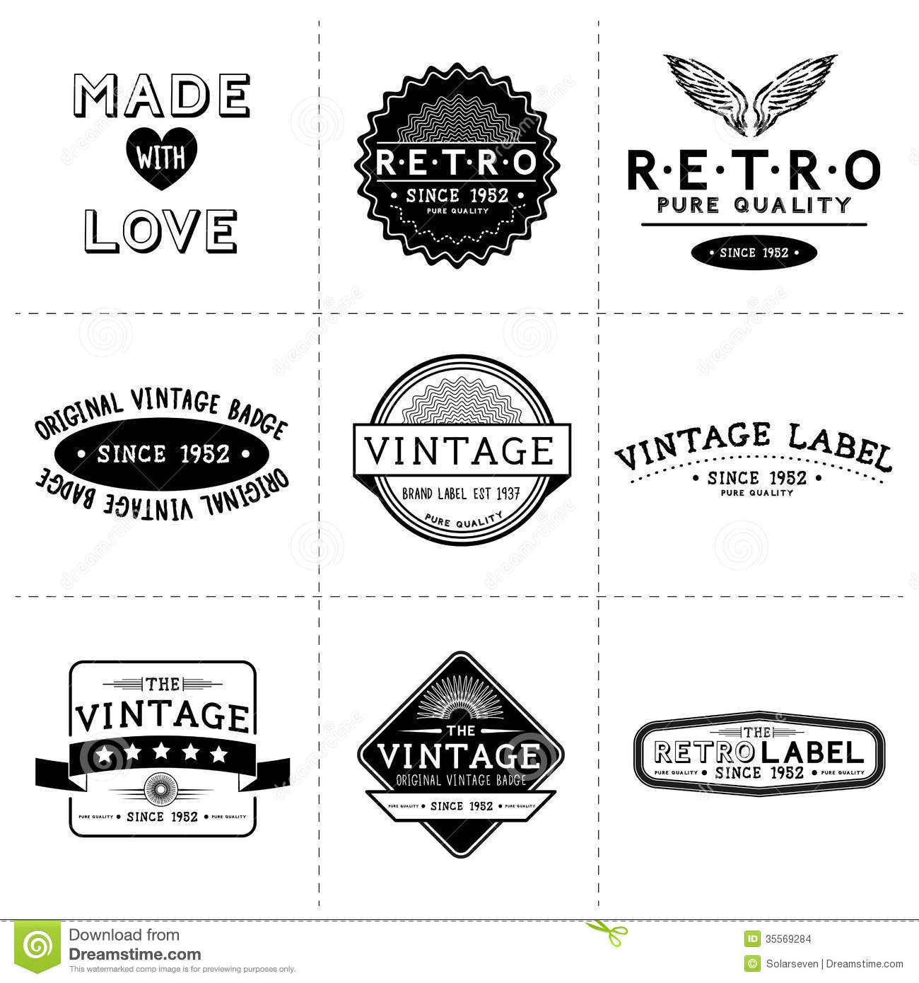 Vintage Vector Labels Stock Vector Image Of Symbol