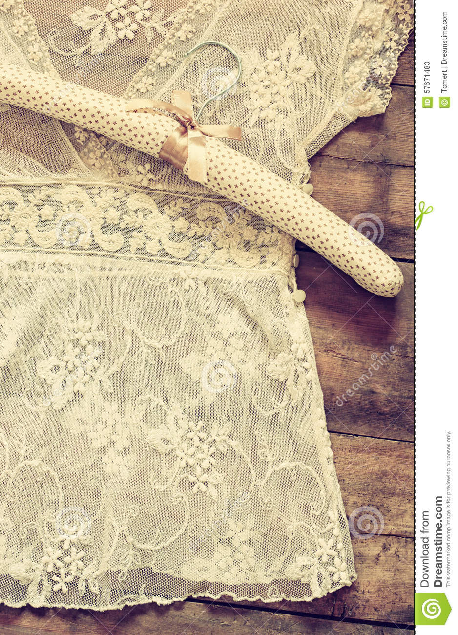 Vintage Background With White Crochet Lace Royalty Free