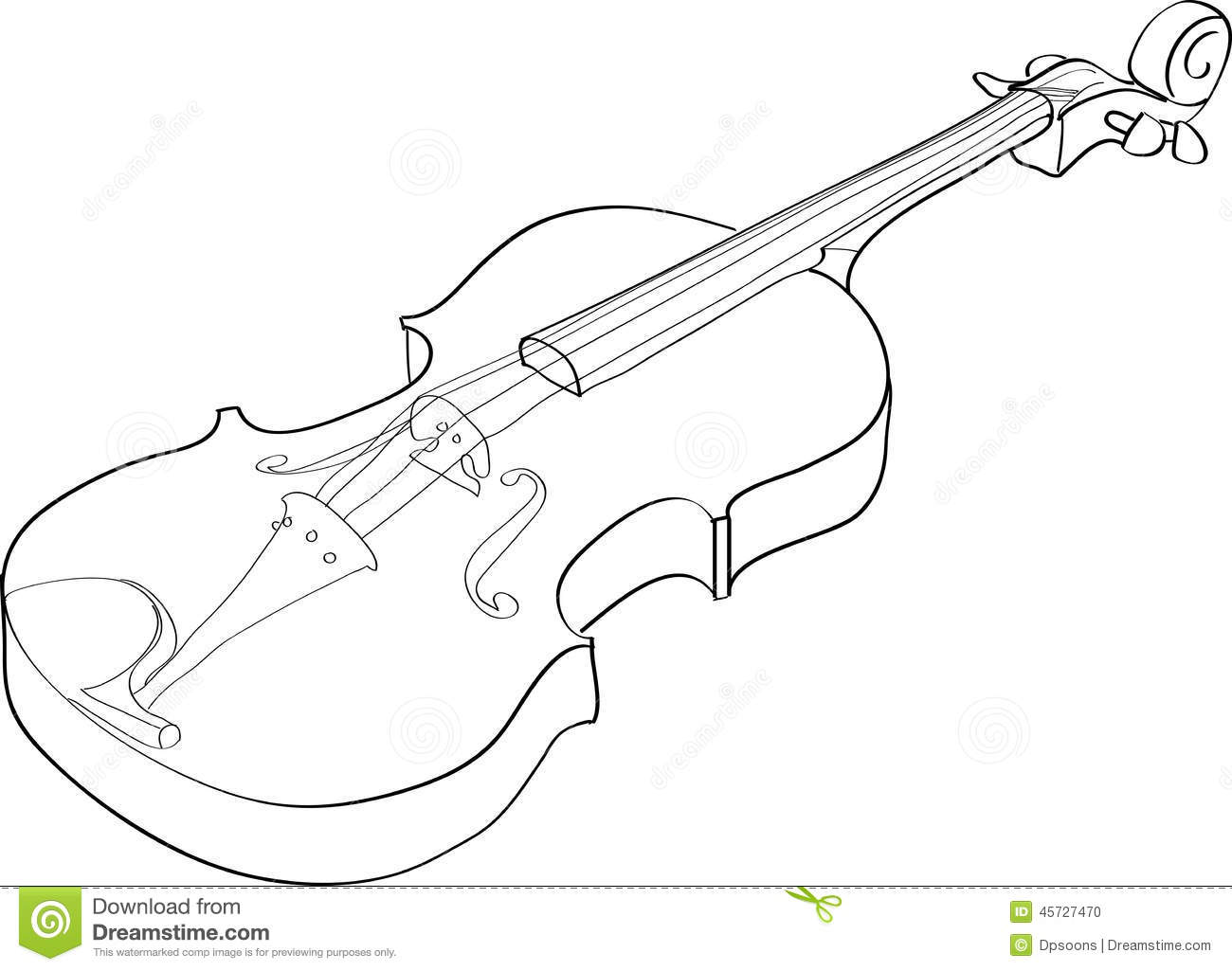 Violin Stock Vector Image Of Outline Picture