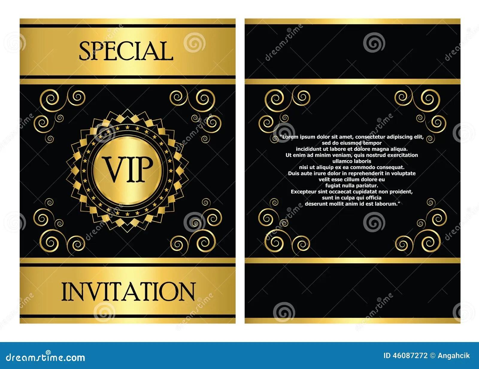 Free Vip Invitations Template
