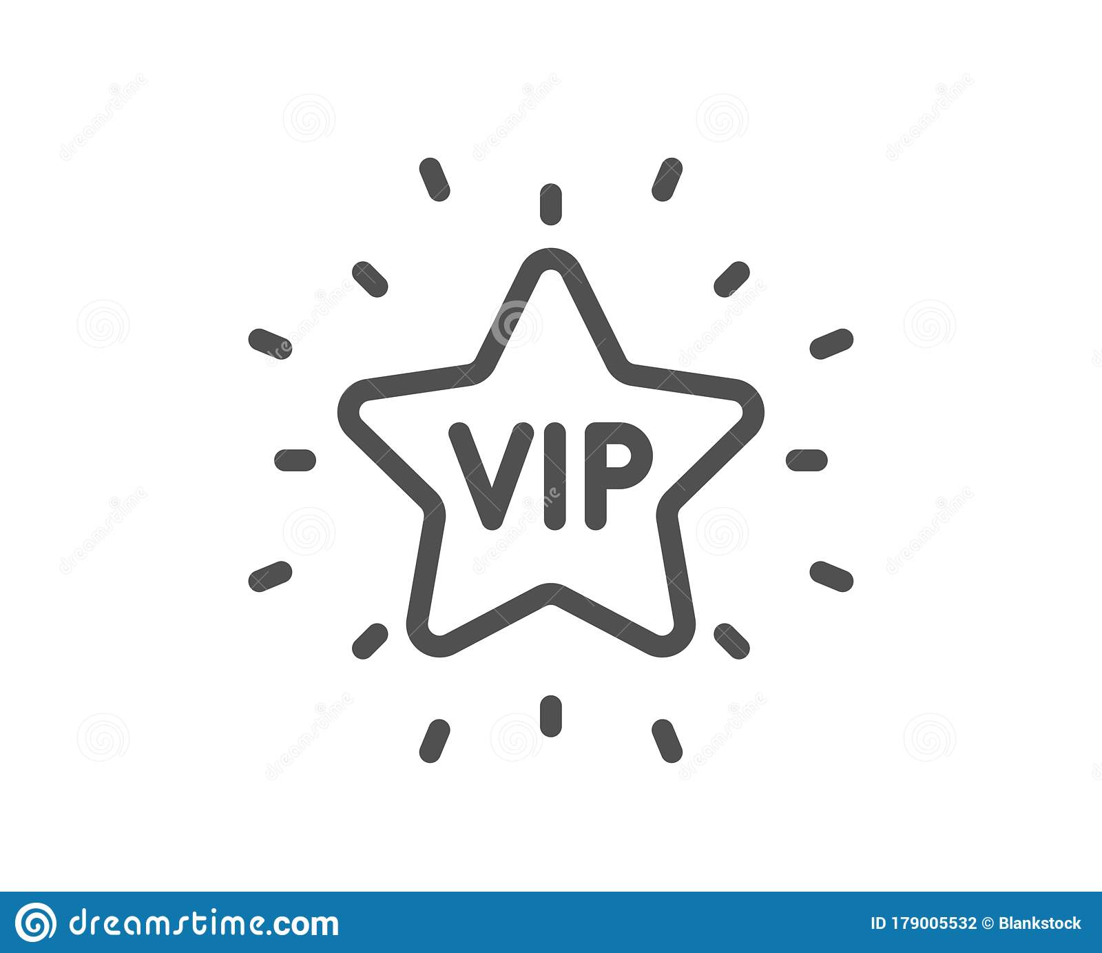 Vip Line Icon Very Important Person Star Sign Vector