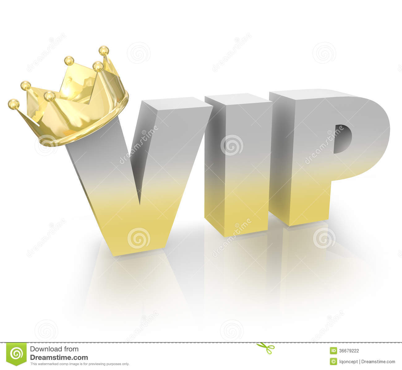 Vip Very Important Person Gold Crown Official King