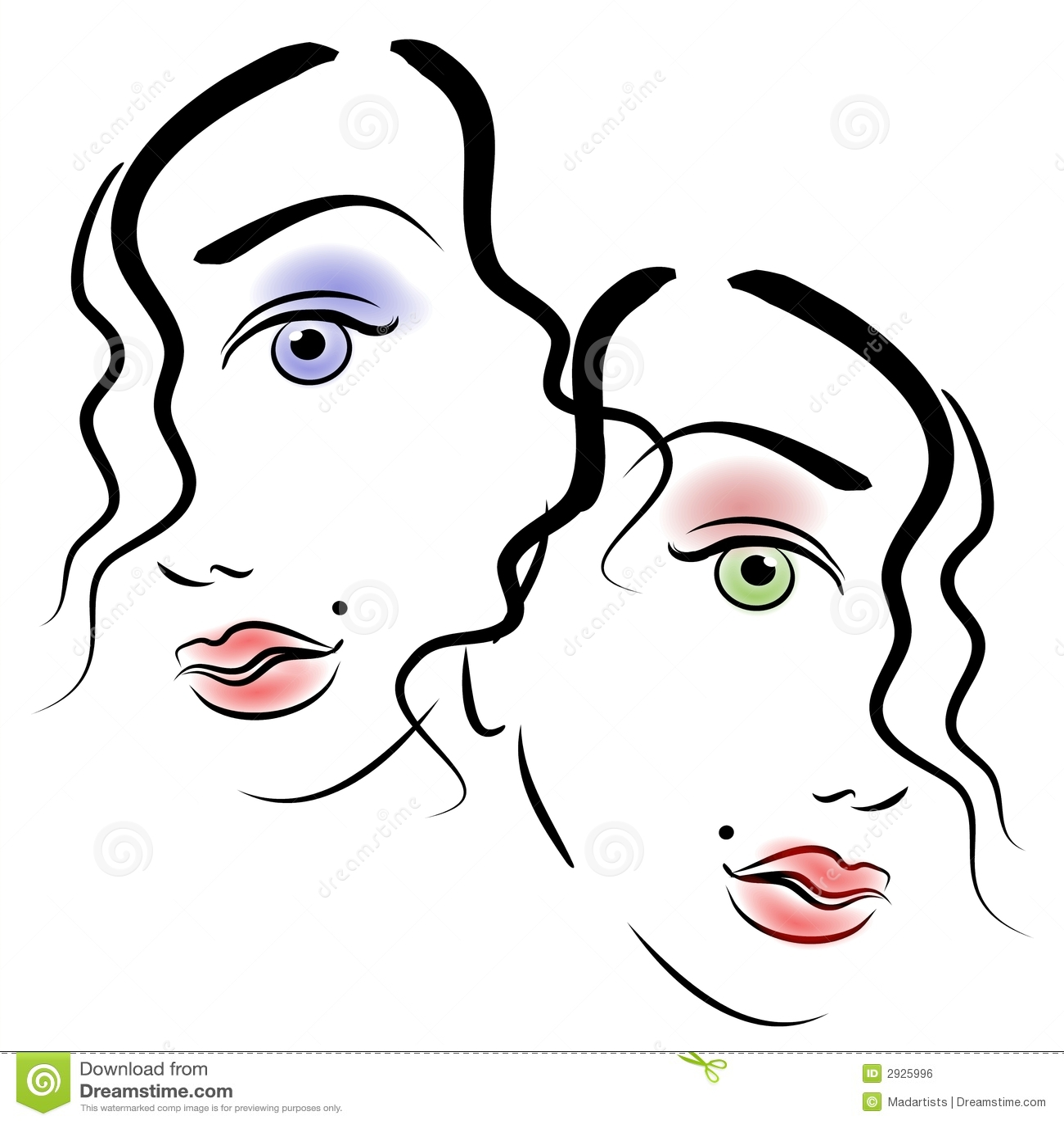 Visages Du Clipart Images Graphiques De Femmes 3
