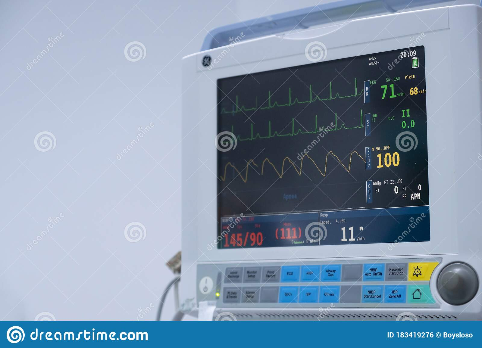 The Vital Signs Monitor In Operating Room In Hospital