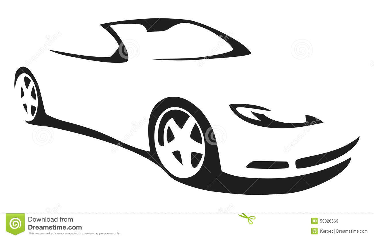 Voiture De Sport De Silhouette De Vecteur Illustration De