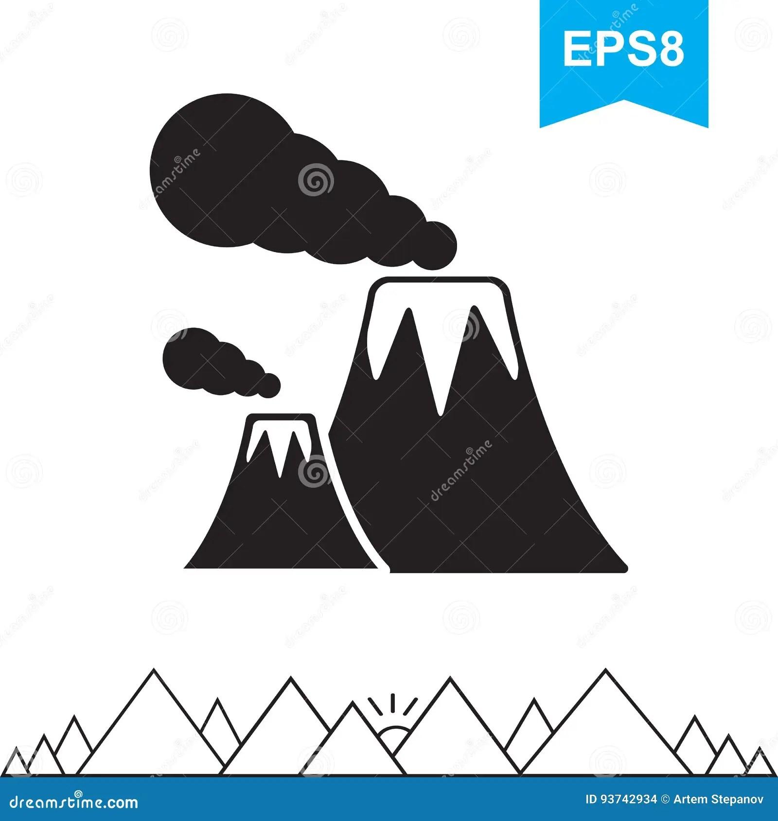 Volcano Icon Isolated Stock Vector Illustration Of Lava
