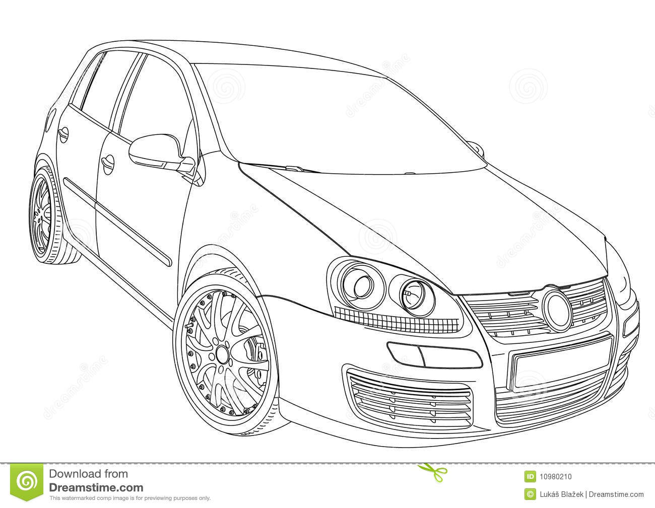 Volkswagen Golf 5 Stock Vector Image Of Limusine Turbo
