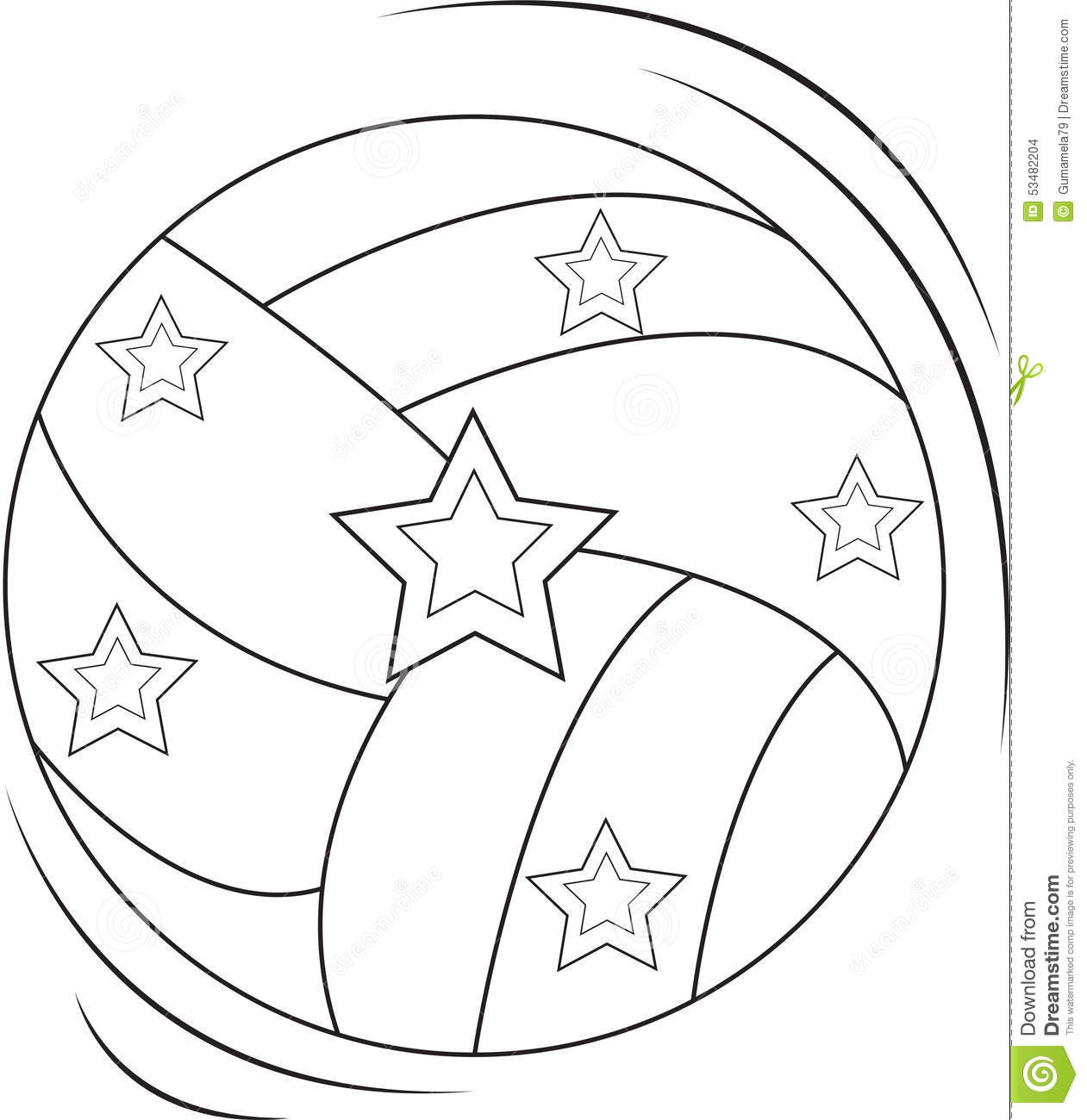 Volleyball Coloring Page Stock Illustration Illustration