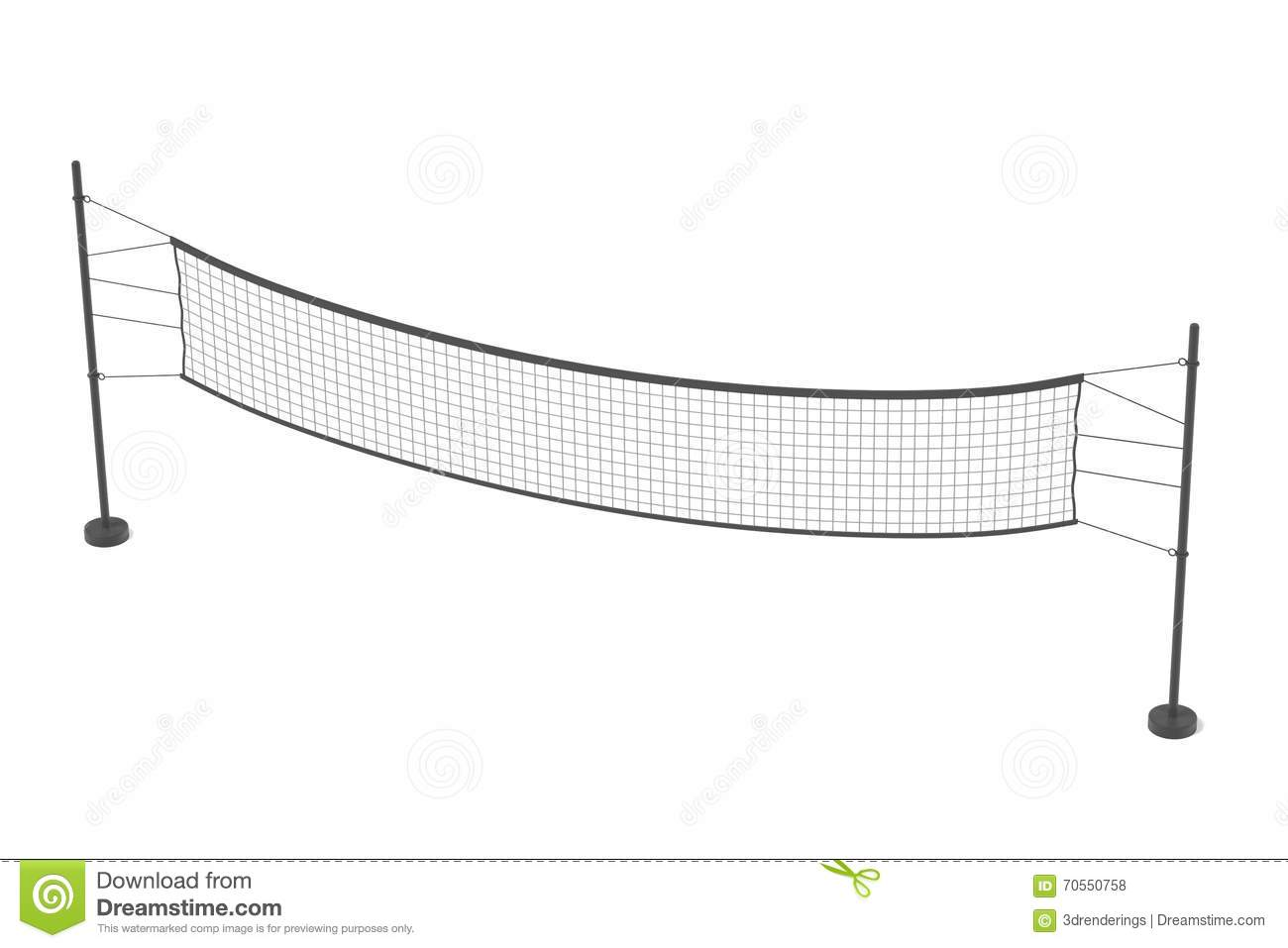 Volleyball Net Stock Illustration