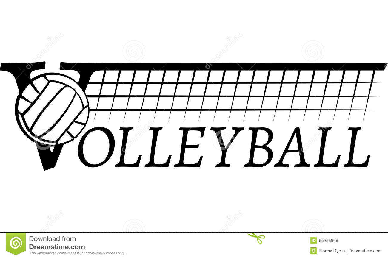 Volleyball Net With Text Stock Vector Illustration Of
