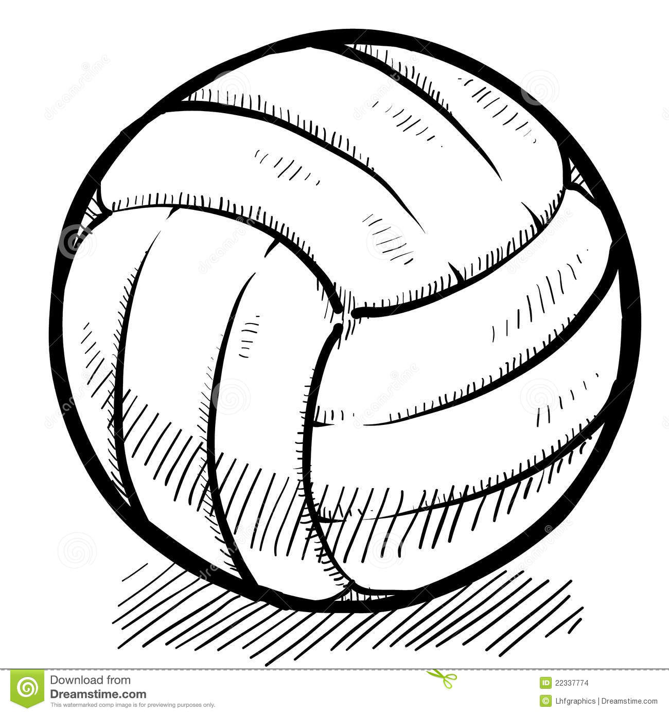 Volleyball Sketch Stock Vector Illustration Of Varsity