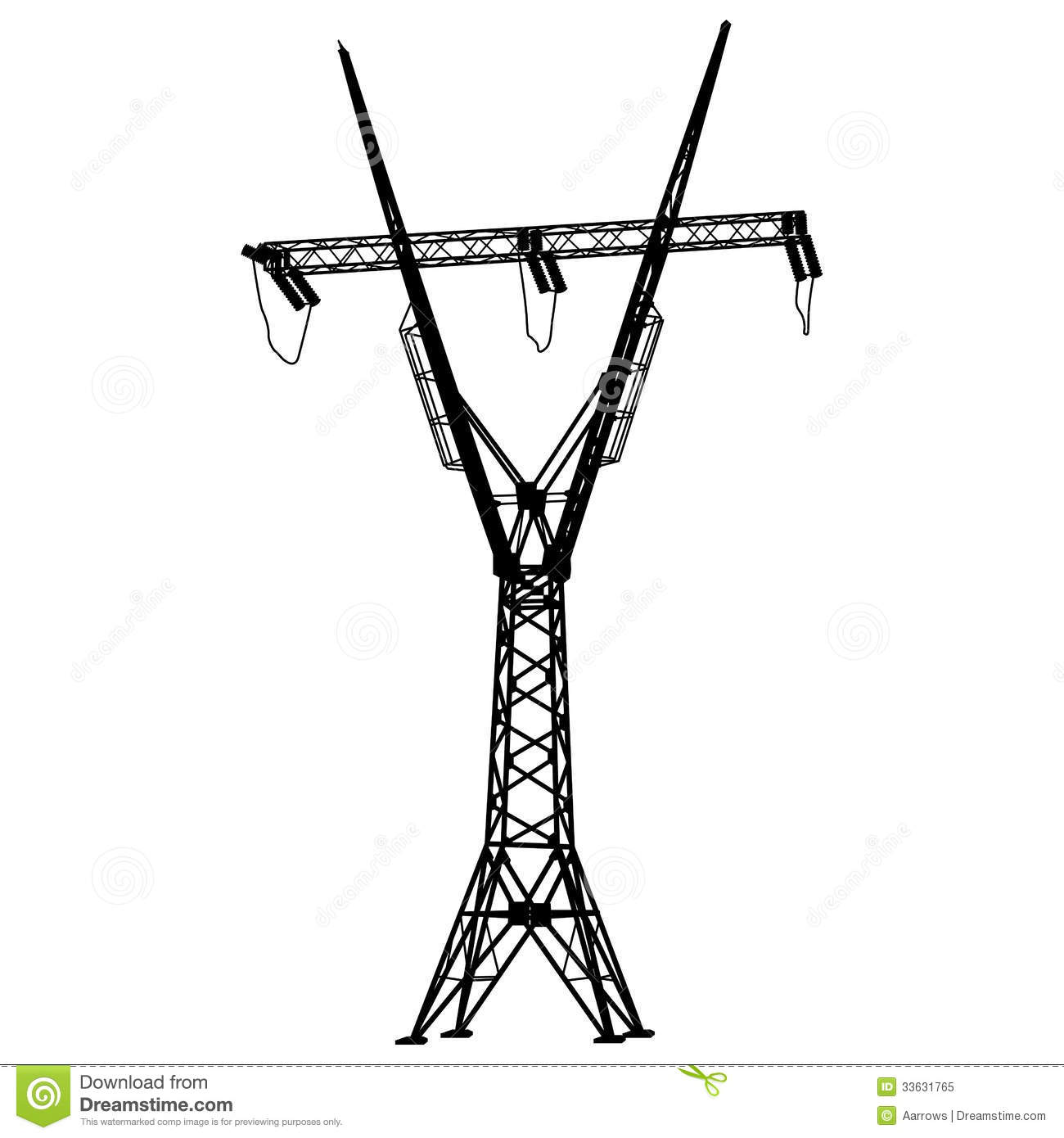 Voltage Power Lines Royalty Free Stock Photo