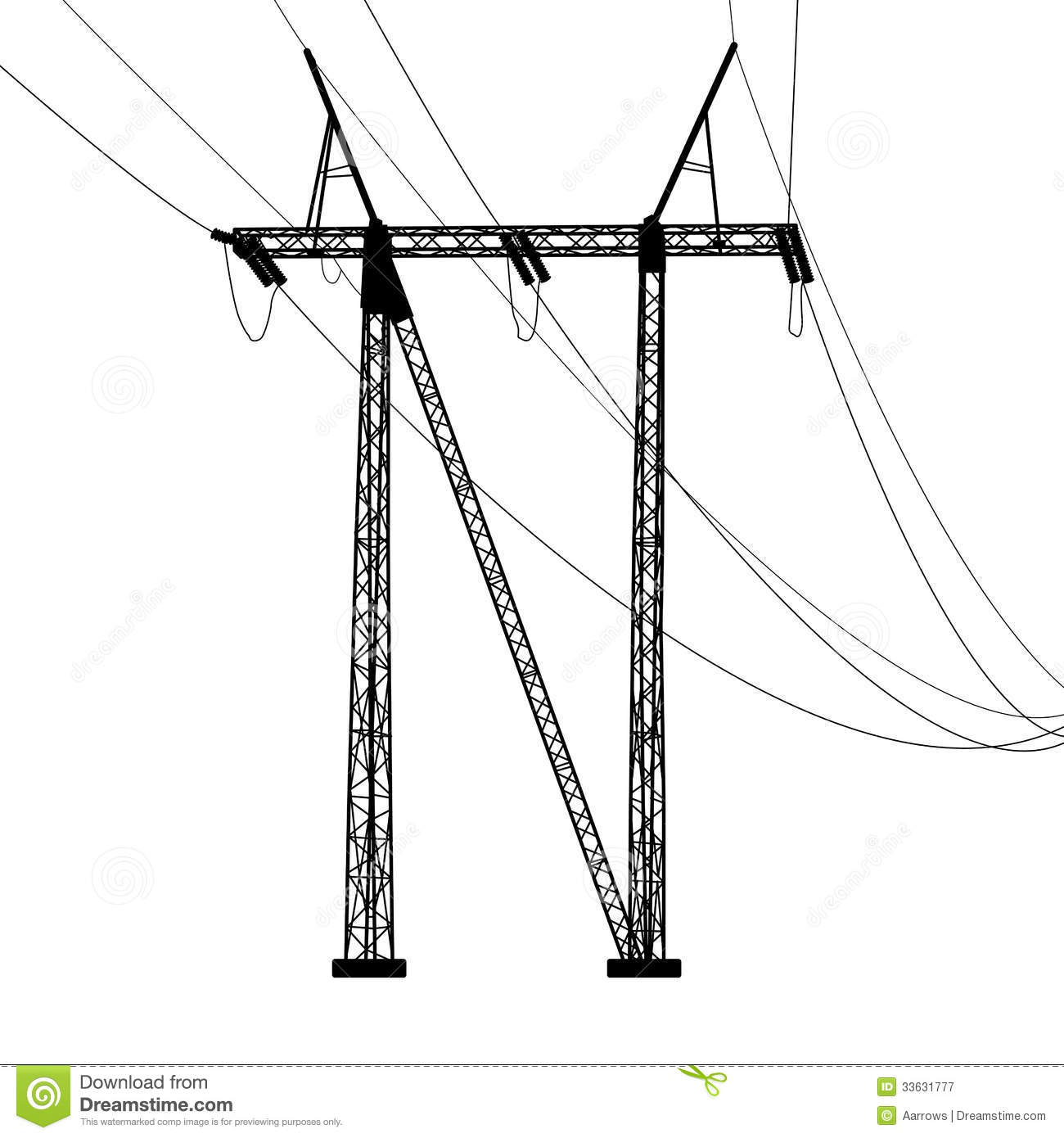 Voltage Power Lines Royalty Free Stock Photography