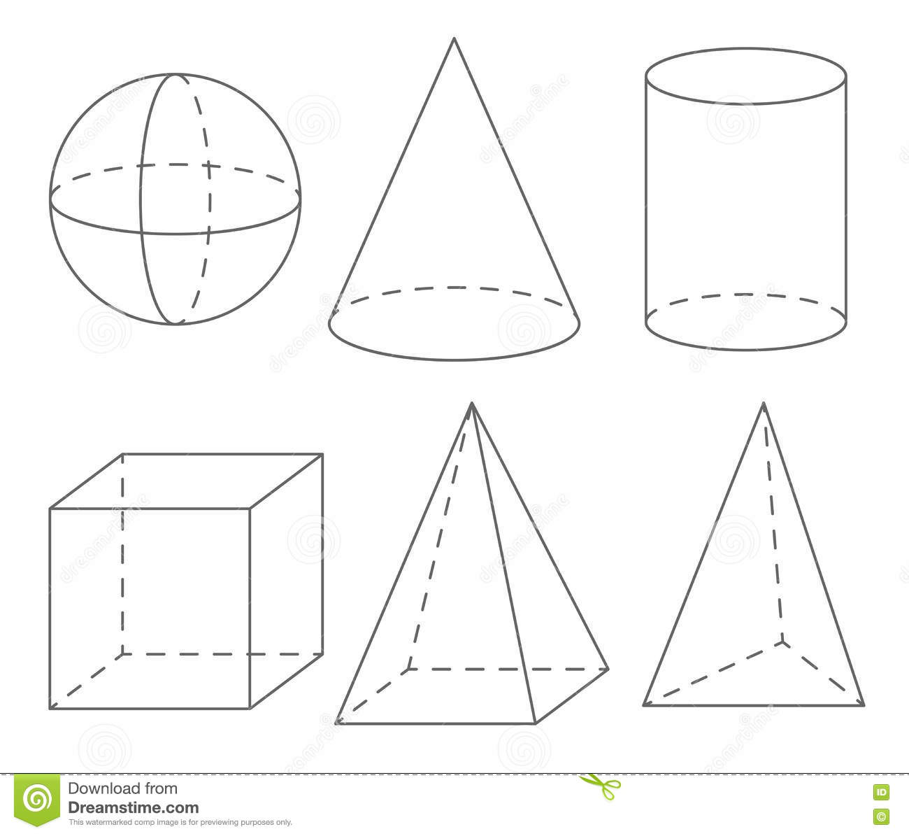 Volume Geometric Shapes Sphere Cone Cylinder Cube