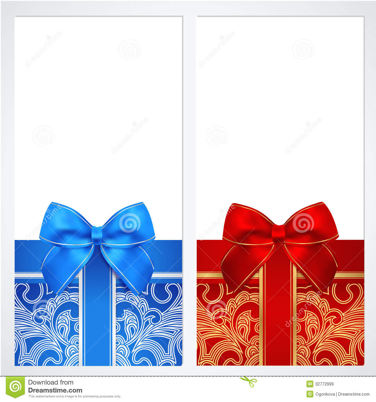 Voucher Gift Certificate Coupon Template Box Royalty