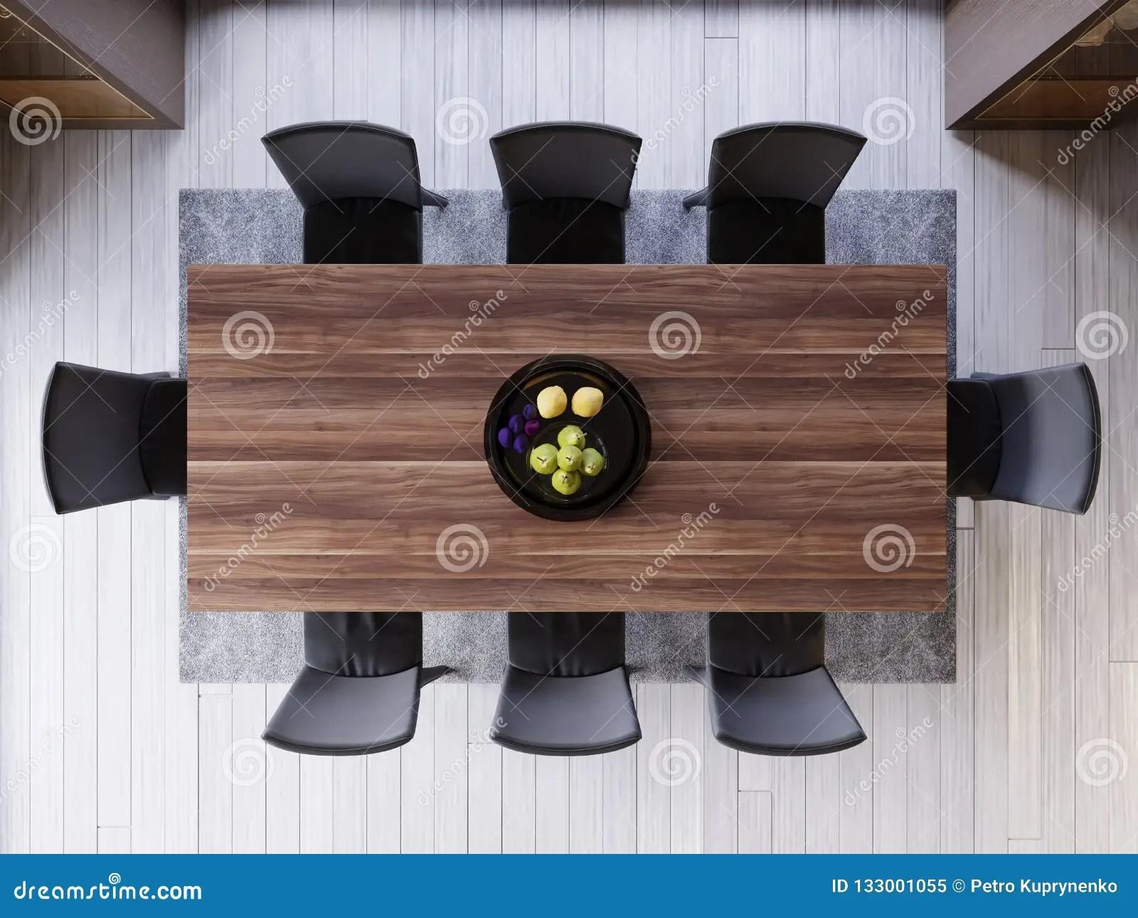 vue superieure au dessus de table de