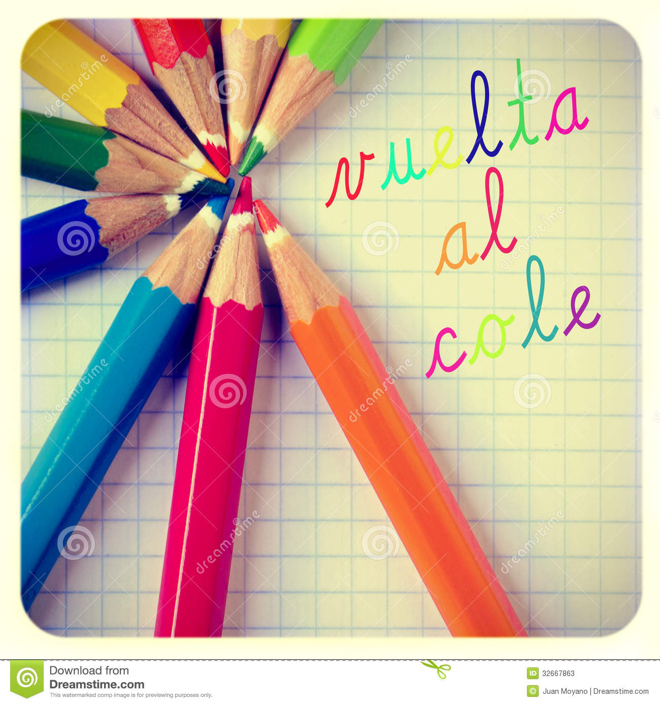 Vuelta Al Cole Back To School Written In Spanish Stock