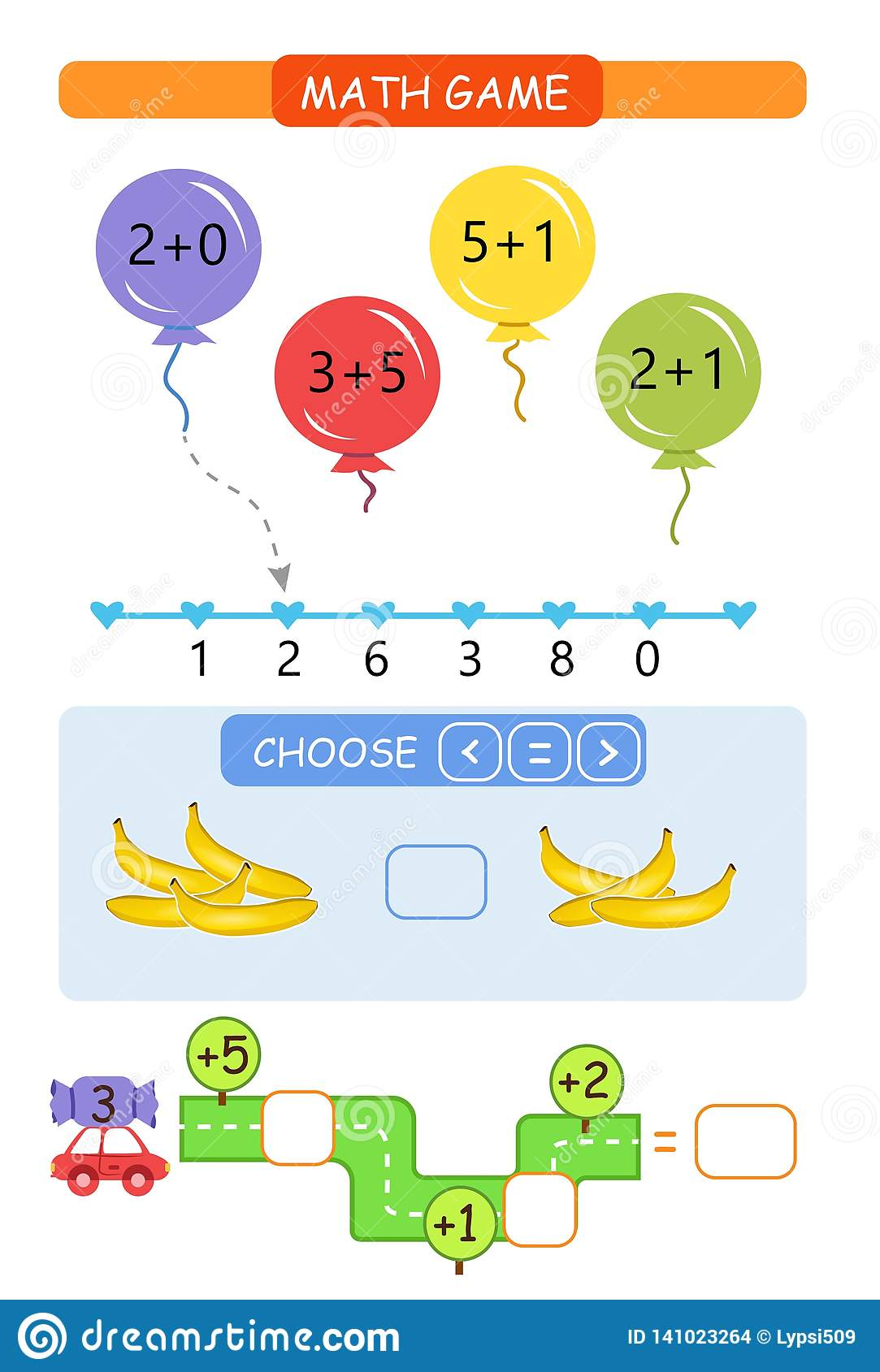 Worksheet Counting Game Learning Mathematics Tasks For