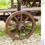 Wooden Wheel Stock Photo Image Of Rustic Wagon Bent 42409542