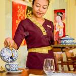 Waitress Wearing Uniform In The Thai Restaurant Serving Tea Editorial Stock Image Image Of Labour Cook 132049104