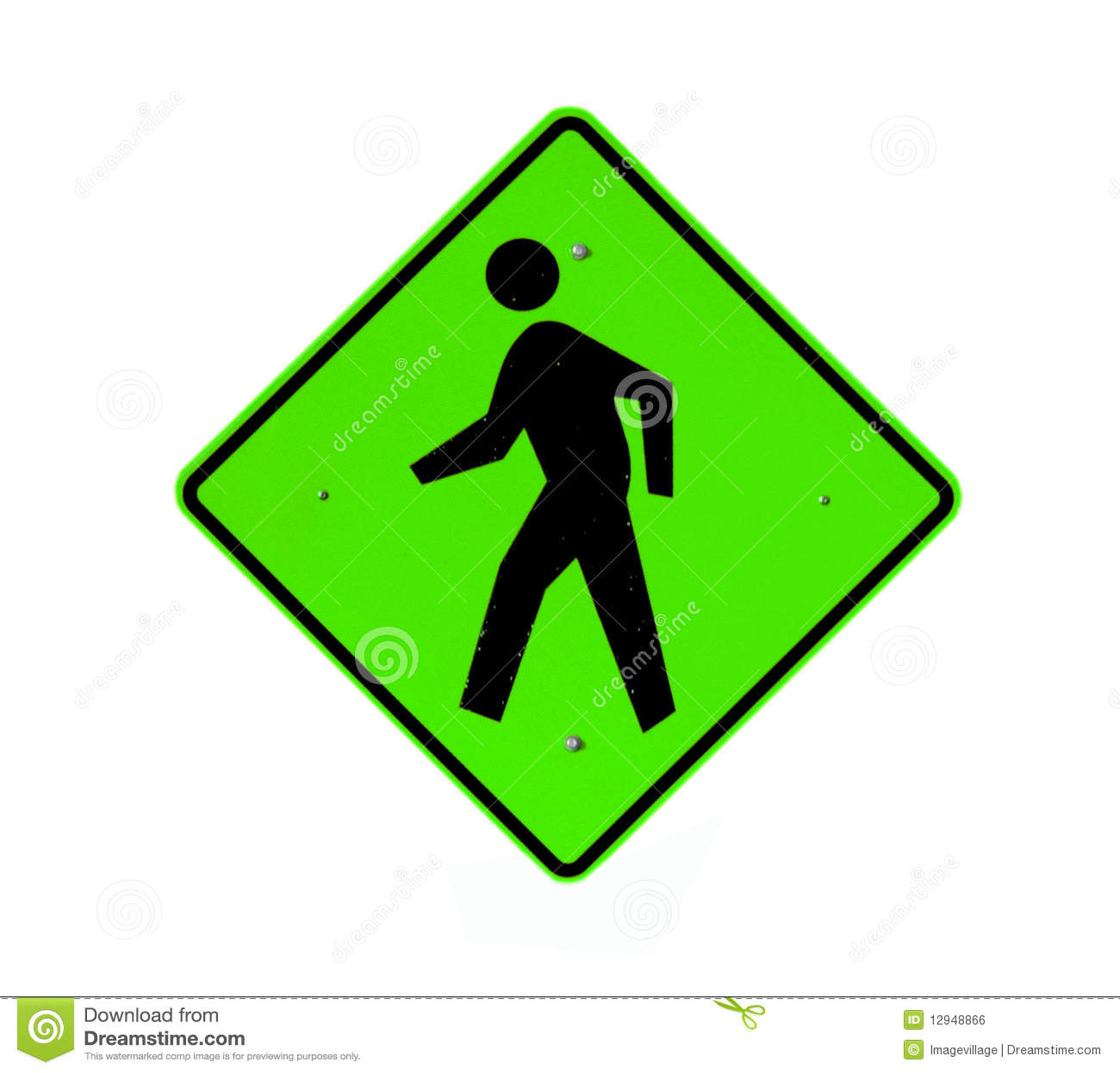 Walking Path Sign Royalty Free Stock Image