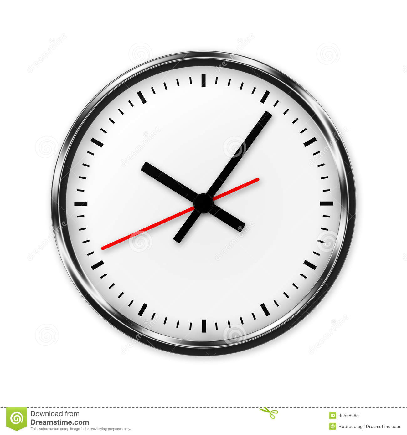 Wall Clock Without Numbers Stock Illustration