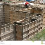 Wall Forms Molds For Concrete Stock Photo Image Of Footer Activity 7788712