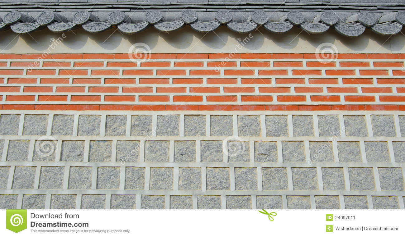 Wall Temple Texture Roof Background Abstract Stock Image