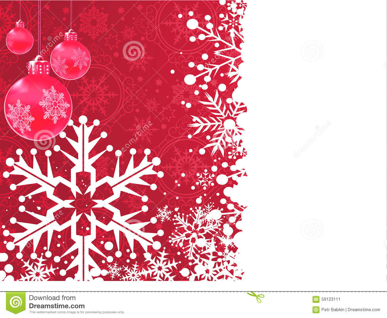 Wallpaper Background Xmas Card Red Background Stock