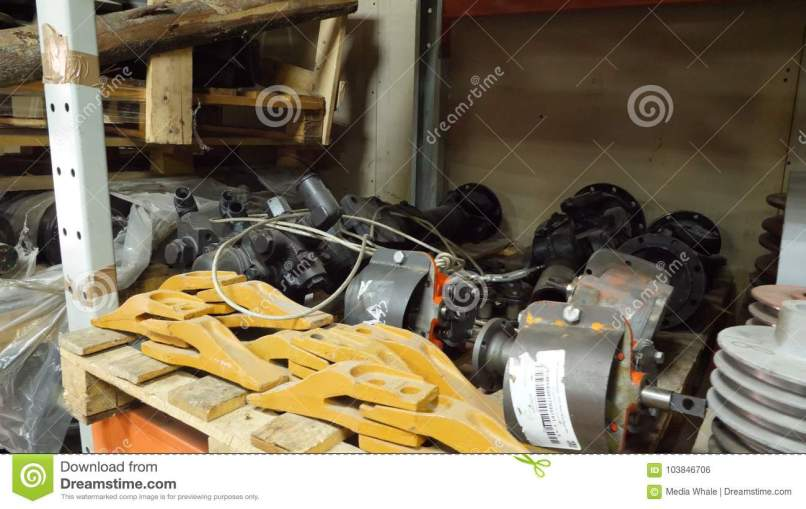 Warehouse Of Spare Parts In Car Care Center With For Cars