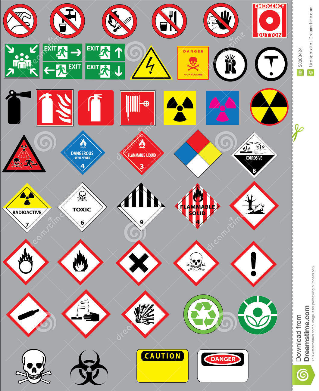 Warning And Safety Signs Stock Vector Illustration Of