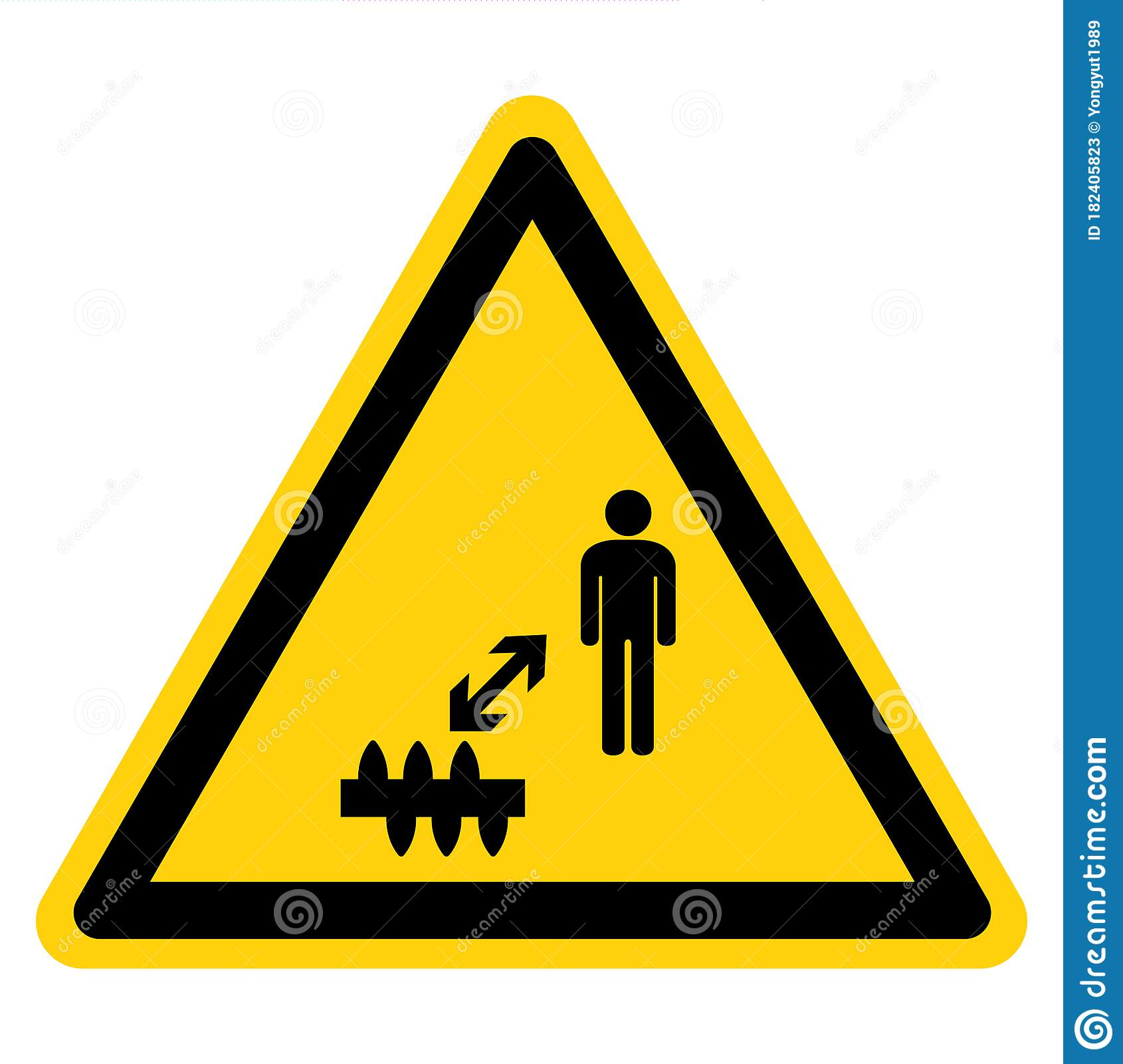 Stay Away From Negative People Sign Cartoon Vector
