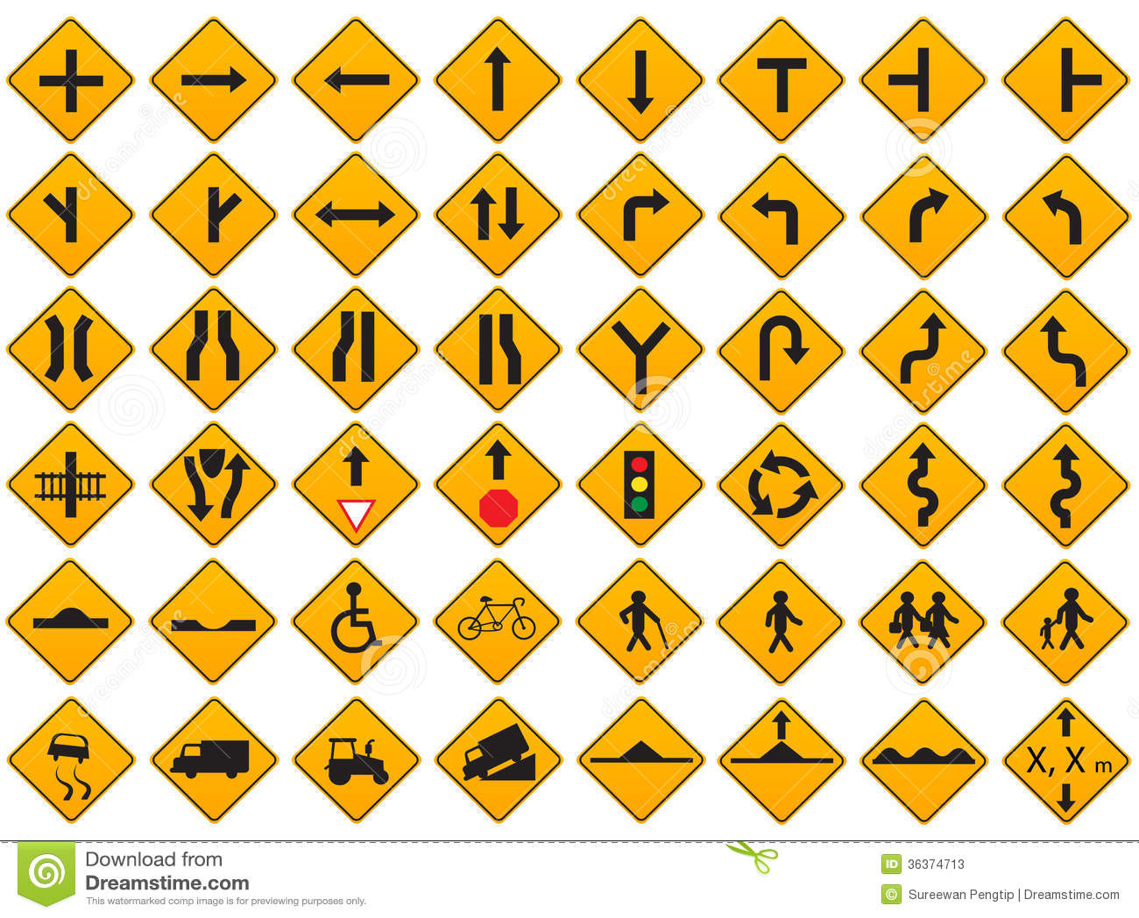 Driver License Renewal Road Signs