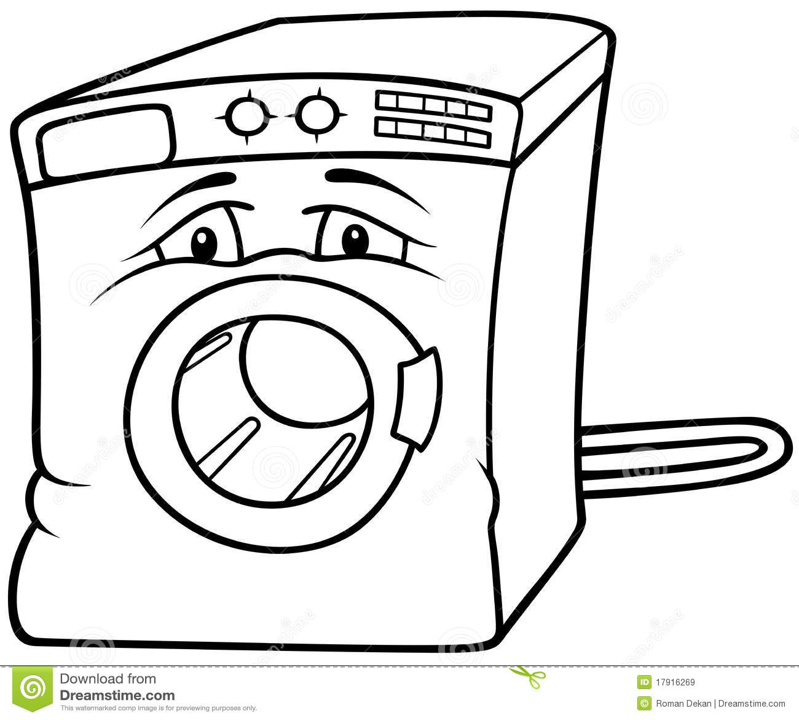 Washing Machine Stock Vector Illustration Of Electronic