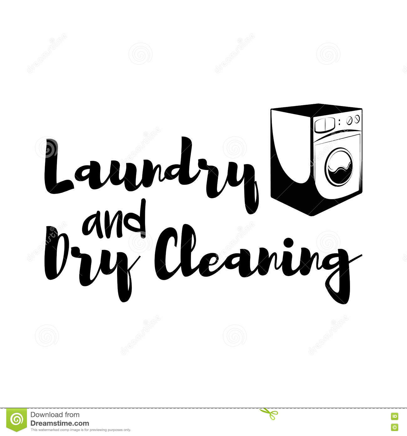 Washing Machine Laundry Room And Dry Cleaning Label And